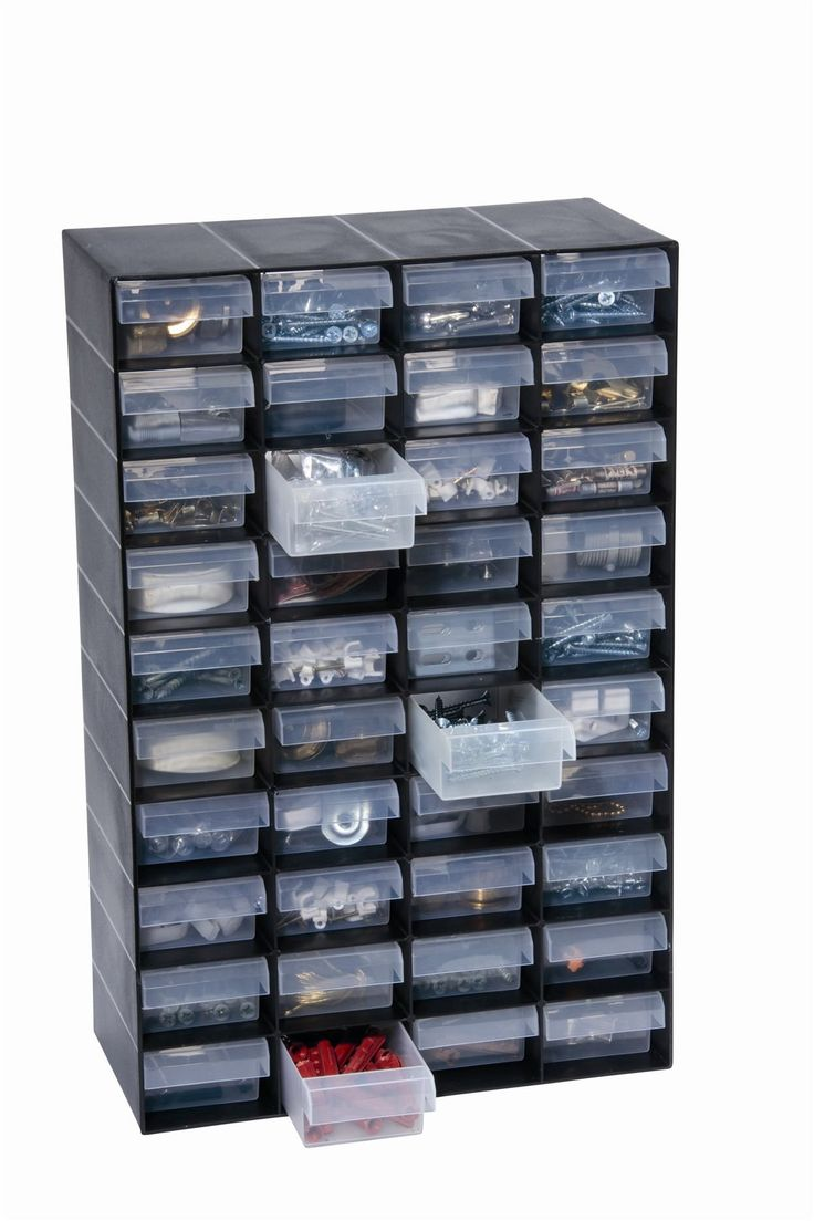 40 Multi Drawer Plastic Storage Cabinet For Home Garage Or Shed Diy Tools Web