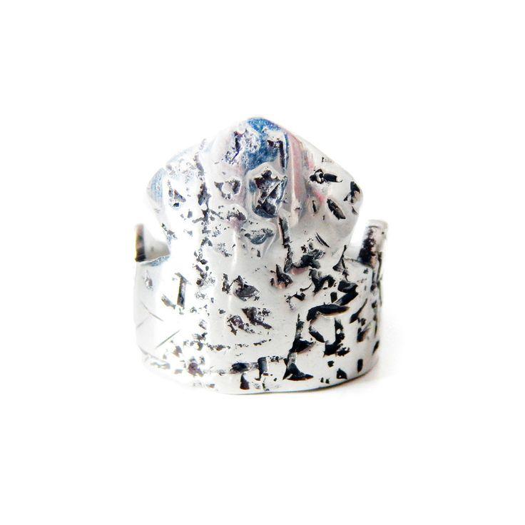 Handmade Sterling Silver CASTLE ring