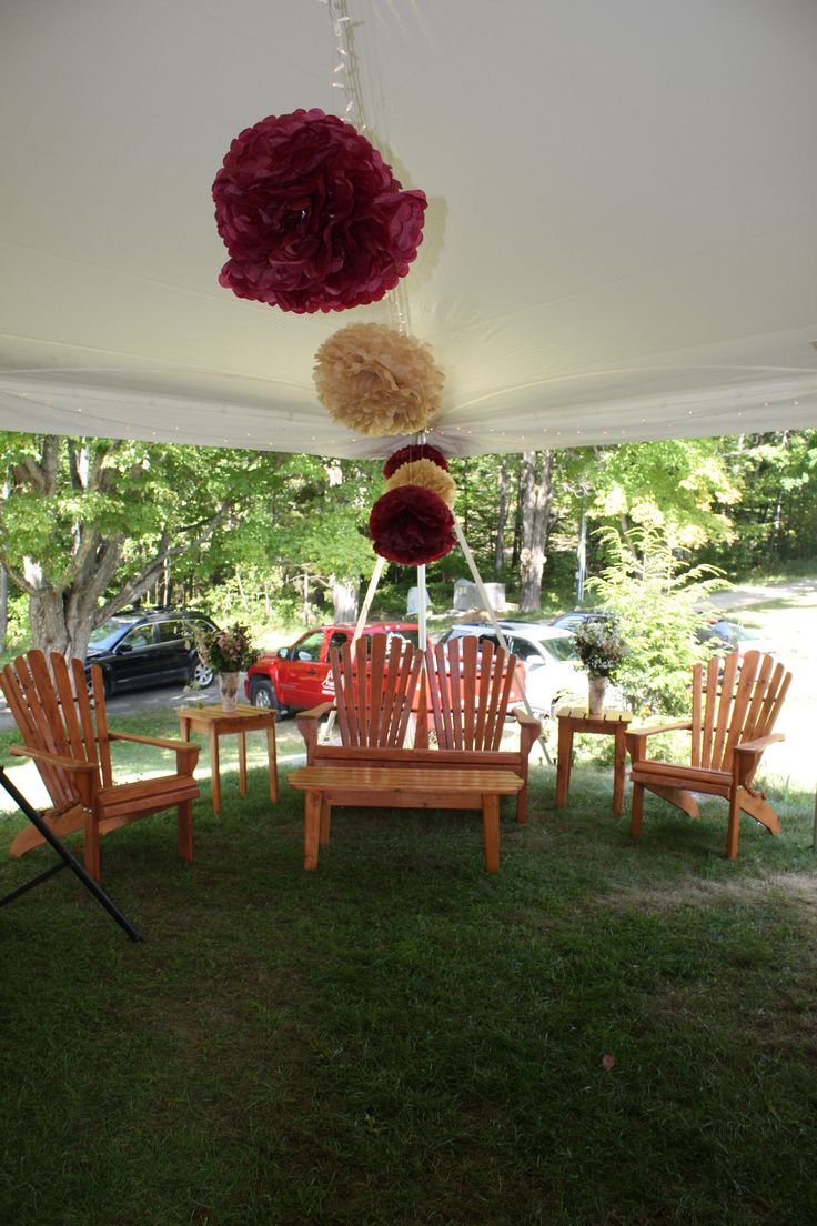 Our Adirondack Lounge Collection was in its natural setting during this beautiful rustic wedding.