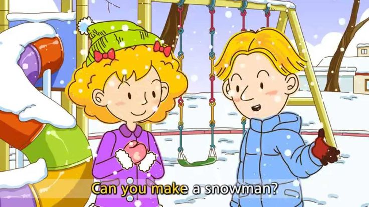 It's snowing. - Do you like snow? (Easy Dialogue) - English video for Ki...