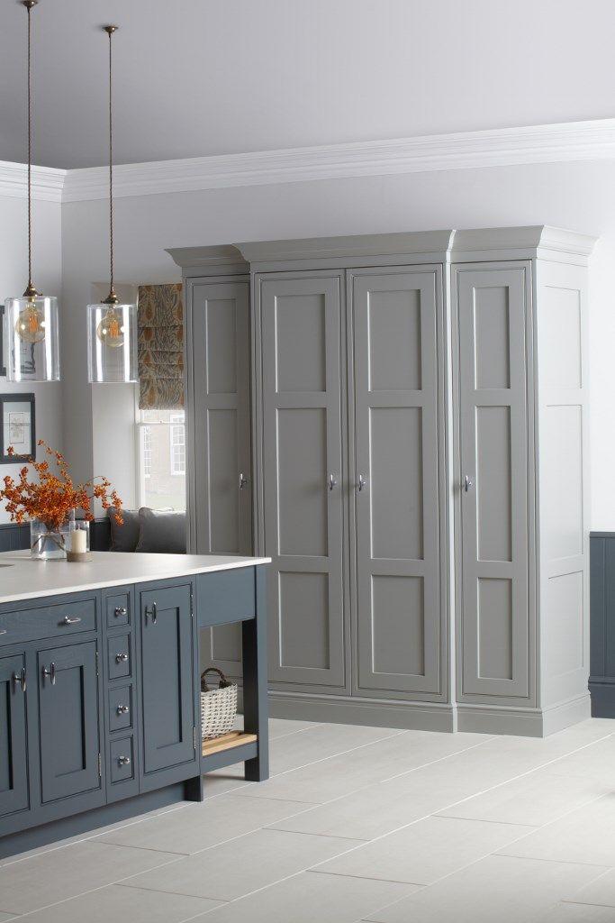 Burbidge's Langton Kitchen painted in Gravel and Seal Grey - Pantry