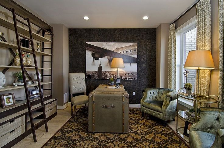 632 best ideas about den library office study on pinterest for Wallpaper home hardware