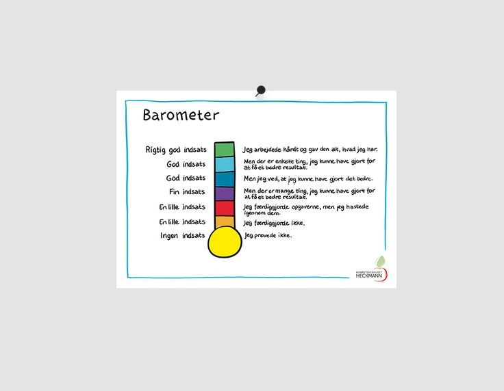 """Barometer"", A4 Plakat · Kompetencehuset Heckmann"