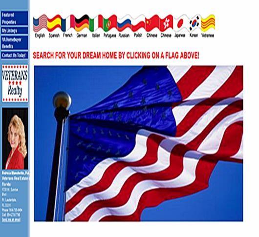 VeteransRealty website