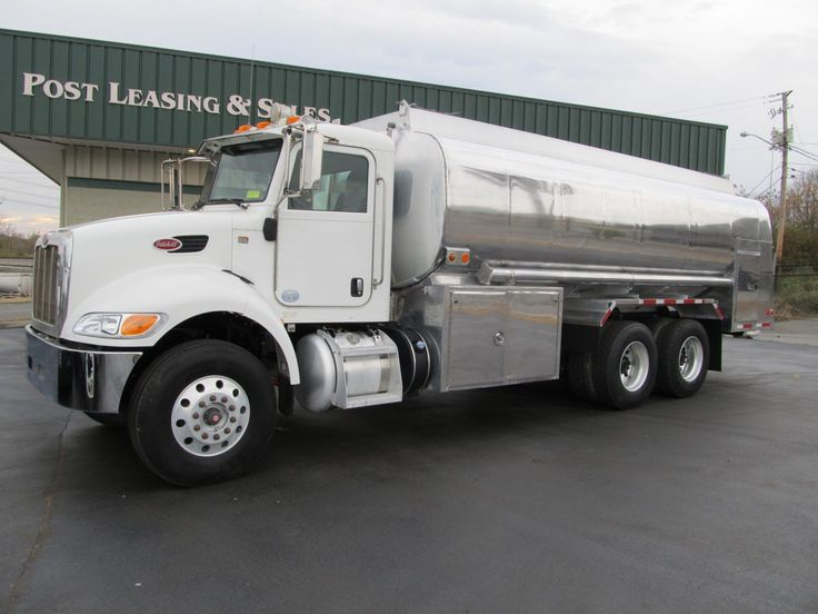 Used fuel trucks for sale: 2012 Peterbilt with a Paccar Px-8 Engine @ 330 horsepower and a 2011 Almac 4500 Gallon 4 Compartment Aluminum Tank  (865) 524-5678 | www.postleasing.com