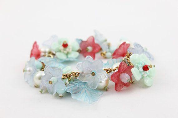 Bloemen armband handgemaakte bloem armband met door DetailLondon