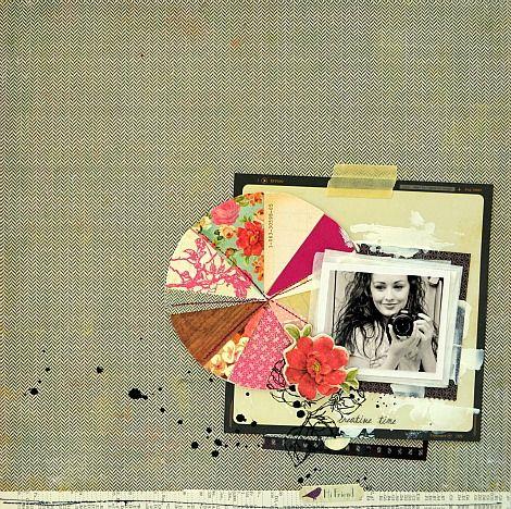 .Scrapbook Ideas, Pink Couch, Paper Scrap, Digital Scrapbooking, Pies Charts, Tara Anderson, Scrapbook Layout, Crate Paper, Crates Paper