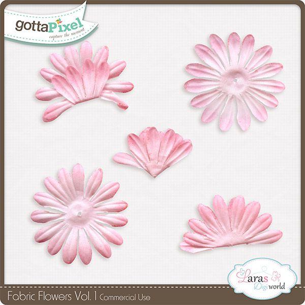 Fabric Flowers Vol. 1