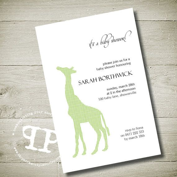97 best images about Giraffe party – Giraffe Party Invitations