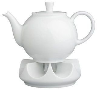 Arzberg Teapot with Warmer - modern - coffee makers and tea kettles - by Crate