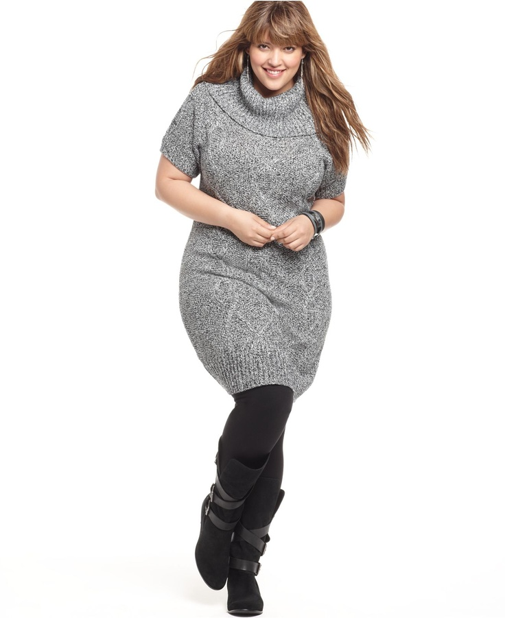 plus jumper dress grey