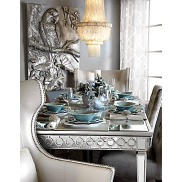 Sophie Mirrored Dining Table Mirrored Furniture Furniture Z