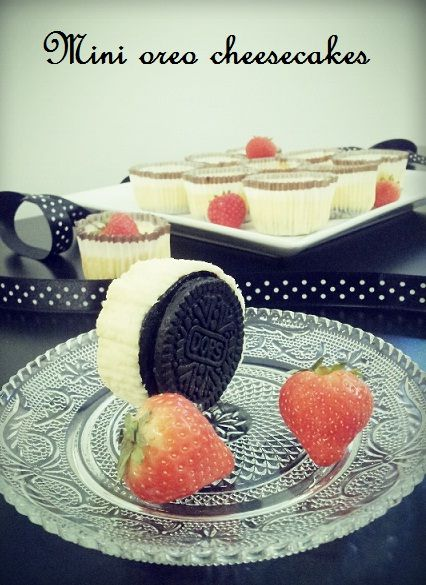 Wicked sweet kitchen: Mini oreo cheesecakes / Pienet juustokakut