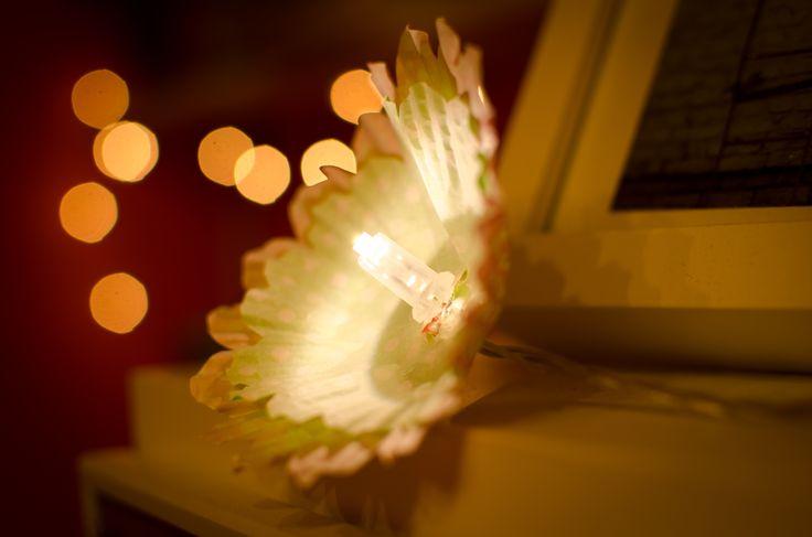 Easy Spring decor: Flower Lights