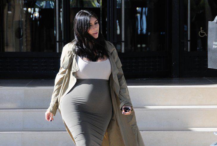 Pin for Later: Kim Kardashian Takes Her Adorable Baby Bump on a Shopping Spree
