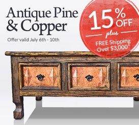 139 best Antique Pine & Copper Furniture from Mexico images on