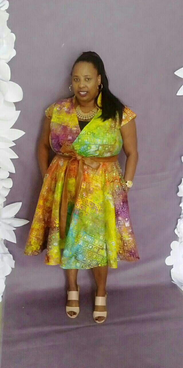 Cillaluniko  by Priscilla Novela  Plus size african Prints with leather belt