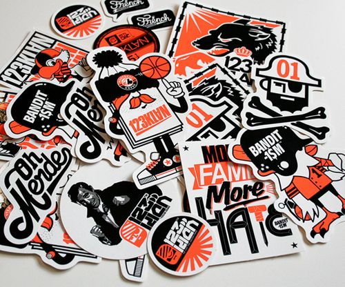 Custom sticker designs 35 creative samples for inspiration