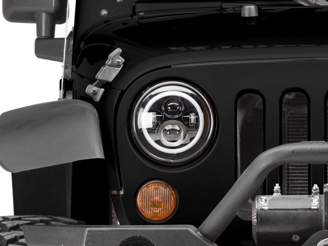 Axial Led Halo Headlights W Drl Amber Turn Signals 97 20 Jeep
