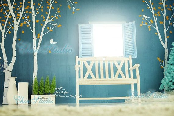 birch trees decalswall decals nature wall decals by ChinStudio, $79.00