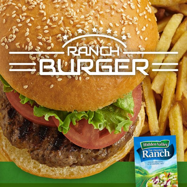 Fire up the grill this summer and cook up these Ranch Burgers! http://hiddnval.ly/aZycFv