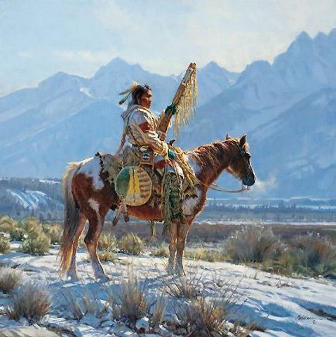 MARTIN GRELLE VALLEY GUARDIAN NATIVE AMERICAN PICTURE