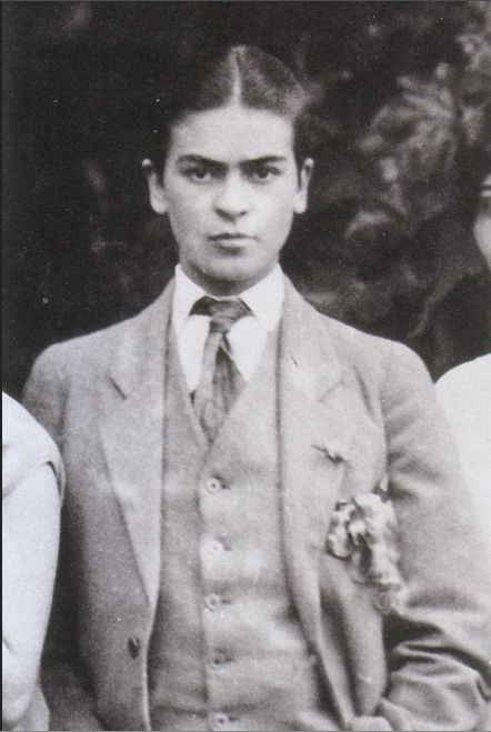 Frida Kahlo, who occasionally dressed as a boy.