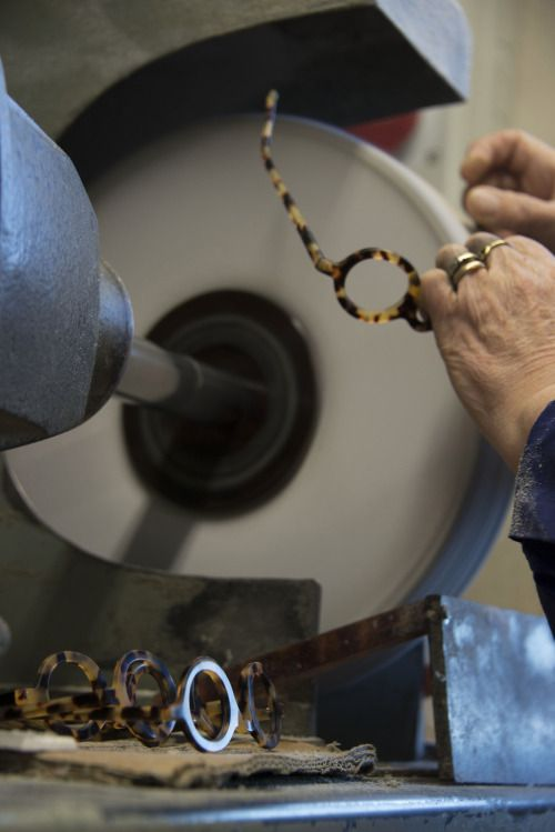 The birth of our Le Corbusier frames, made of Mazzucchelli acetate. Designed by La Dolce Vita Srl - 100% Made in Italy.  #Mazzuccheli #spectacles #artisan