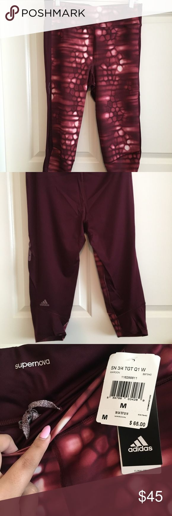 Adidas Supernova 3/4 Tight New, never worn & still with tags. No low ball offers or trades please :) adidas Pants Leggings