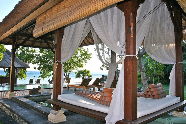gazebo with view on the pool and sea, Pemuteran