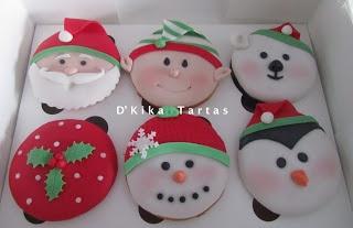 Christmas cupcakes / Cupcakes navideños - D'Kika Tartas