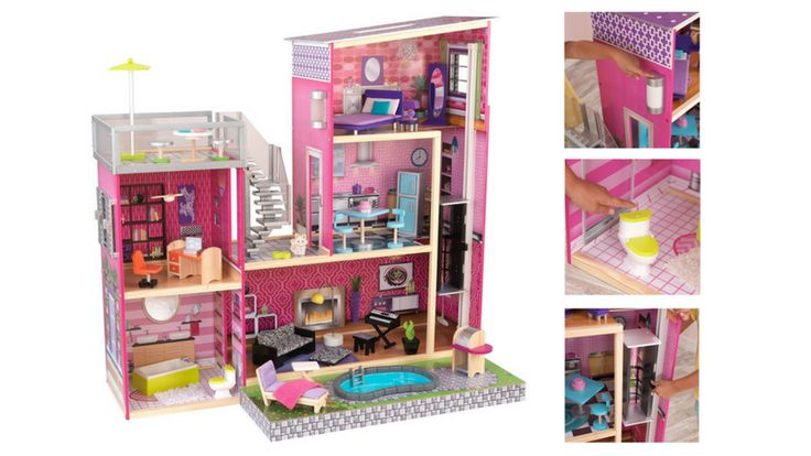 "Best Doll Houses For Girls | Gift Ideas For 5 Year Old Girls | Best Wooden Doll Houses | Best Doll Houses For Barbies and 12"" Dolls 
