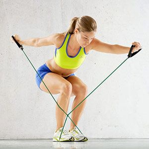 Upstream Swim and other core building exercises using resistance bands