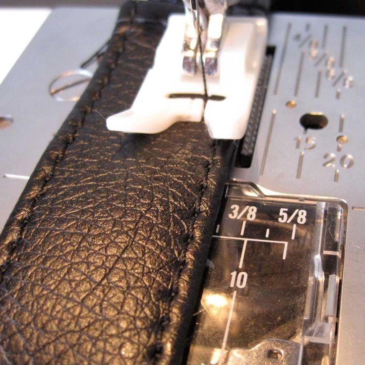 tuto : faire une lanière de sac en simili cuir