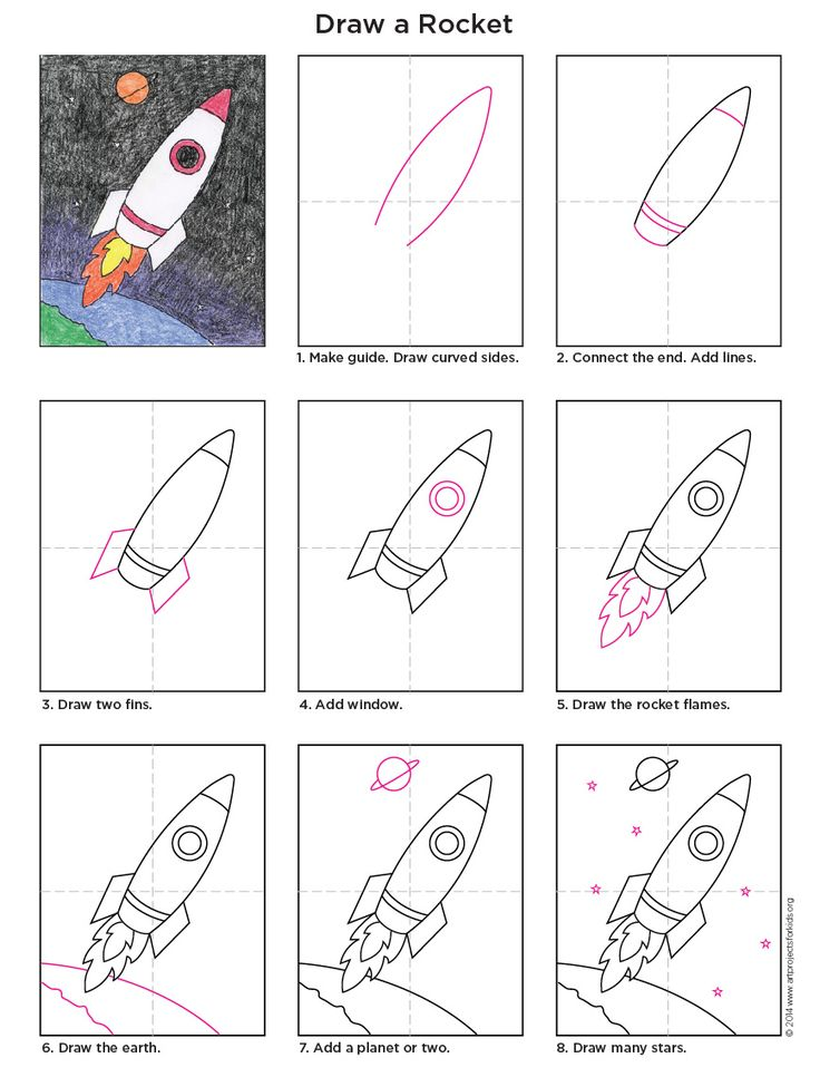 CKLA Domain 6 astronomy How to draw a Rocket diagram