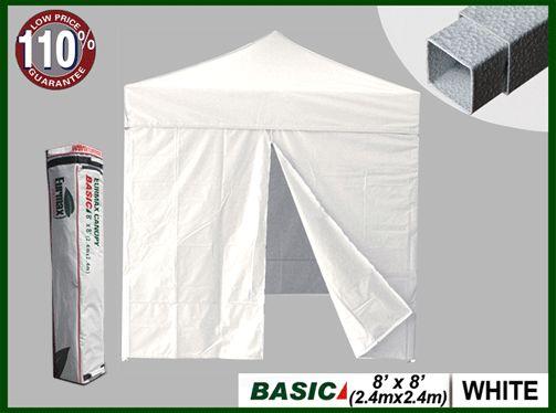Eurmax Basic 8x8 Canopy Tent W/ 4 Zipper Walls