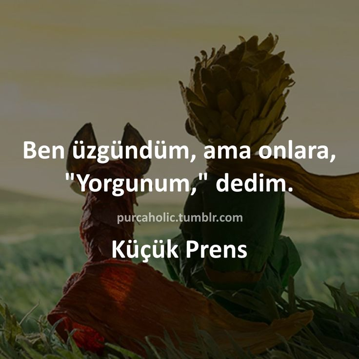 """Ben üzgündüm, ama onlara, """"Yorgunum,"""" dedim. - Antoine De Saint-Exupéry / Küçük Prens #sözler #anlamlısözler #güzelsözler #manalısözler #özlüsözler #alıntı #alıntılar #alıntıdır #alıntısözler #kitap #kitapsözleri #kitapalıntıları #edebiyat #küçükprens"""
