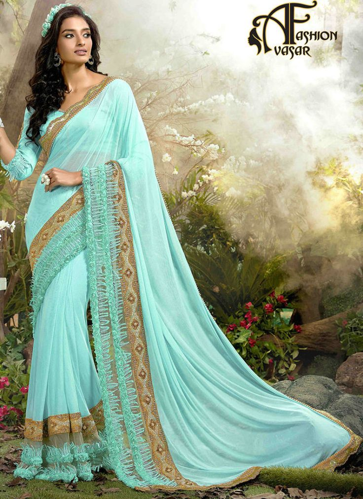 Indian Chiffon Sarees – Party Wear Chiffon Sarees Online
