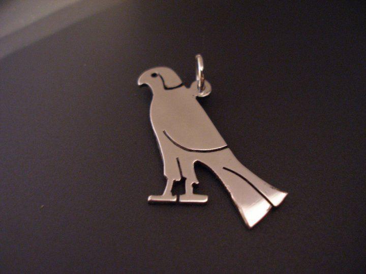 sterling silver falcon pendant 25mm x 20mm handmade 925, £19.99