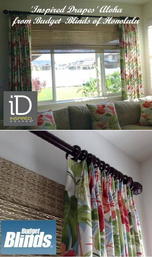 much aloha from budget blinds of honolulu inspired drapes with woven wood shades