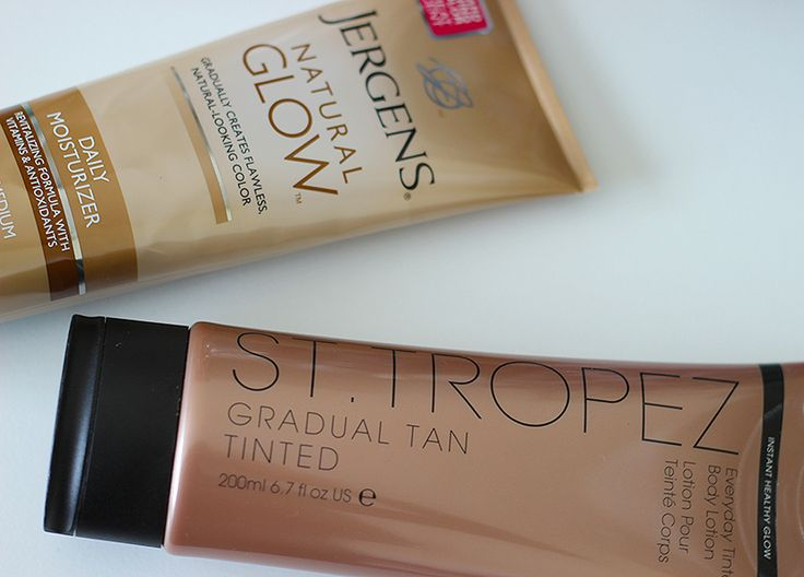 Save or Splurge? Self Tanning Lotion Comparison: Jergens Natural Glow VS St. Tropez Gradual Tan Tinted Body Lotion Review!