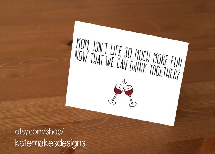 Wine Mother's Day Card on Etsy
