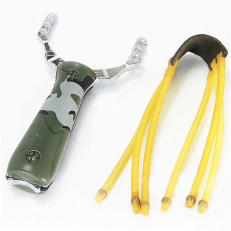 NEW Powerful Climb High Quality Aluminium Alloy Slingshot Sling Hunting Shot Catapult Camouflage Bow Camping Outdoor Tools Q051