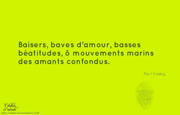 Baisers, baves d'amour, basses b?atitudes, ? mouvements marins des amants confondus.