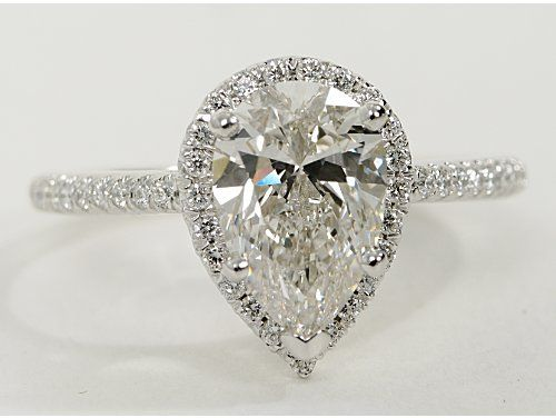 Pear Shaped Halo Diamond Engagement Ring This Style Of Is Absolutely Perfect Lowest Desired Quality Solitaire Rings In