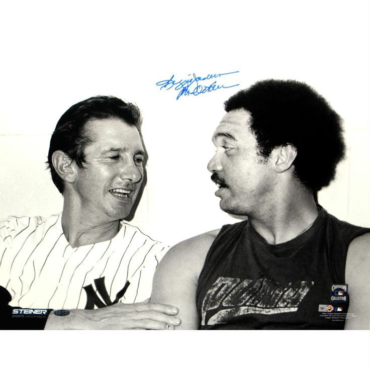 Reggie Jackson Signed Sitting With Billy Martin 16x20 Photo w Mr. October insc (MLB Auth)