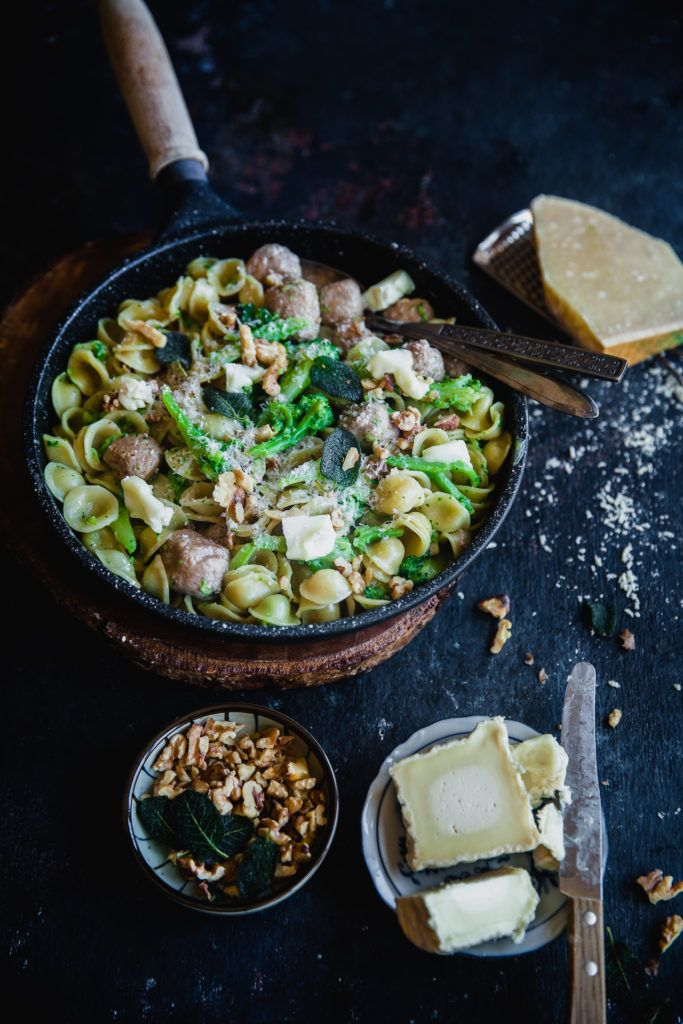 Orecchiette With Sausage, Broccoli And Goat Cheese