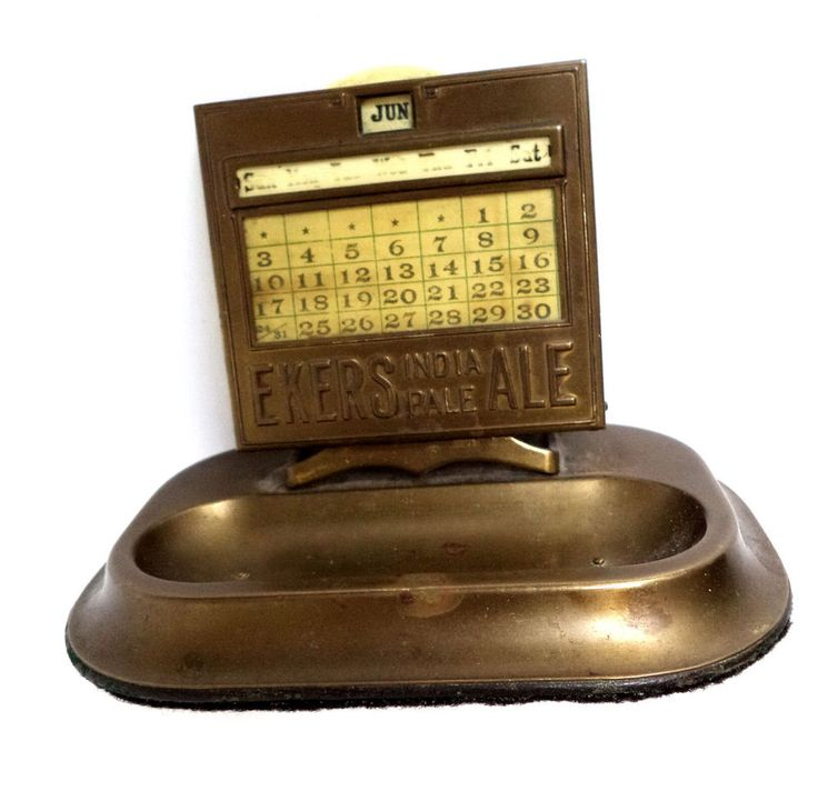 Ekers Ale Beer Bronze Calendar Rare Antique Display Mergott Advertisement Sign | eBay