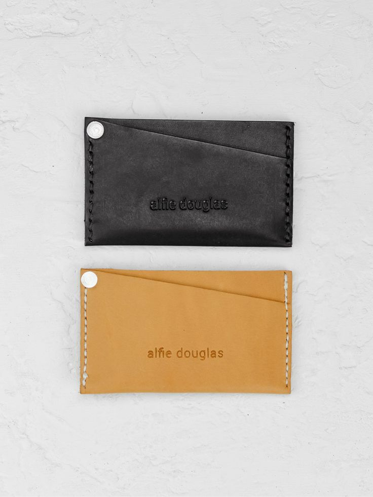 Card Sleeve - Tan - Alfie Douglas - minimal leather bags and backpacks handmade in London, England