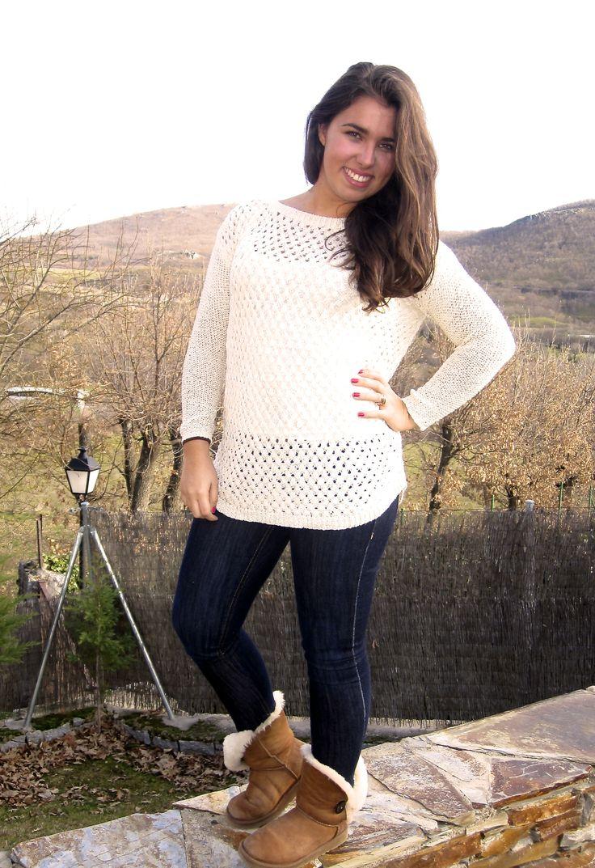 jersey  algodón en beige inspiración handmade